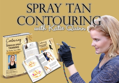 Add Contouring with your airbrush spray tans with Katie Quinn's spray tan contouring training book!