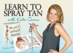 Learn to SPRAY TAN with celebrity spray tanner Katie Quinn of Kona Tanning Company, 3-Time Victoria's Secret Fashion Show Bronzer!