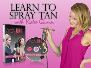 Katie Quinn's Spray Tanning 101 teaches you how to spray tan REAL people!