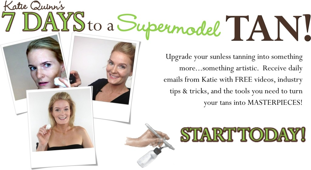 Learn to Spray Tan - Contouring and Tanning Expert Katie Quinn's Spray Tan Central, for Artists, Estheticians, and Beauty Professionals  |  KonaTans.com